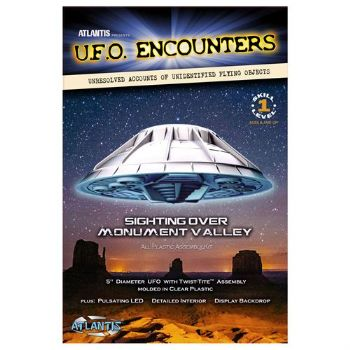 Monument Valley UFO Clear 5-Inch Model Kit with Light Atlantis models
